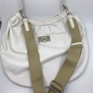 MARC JACOBS White Leather Bucket Bag